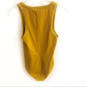 rag & bone Tops - Rag & Bone The Tank Body Suit Dark Mustard Small